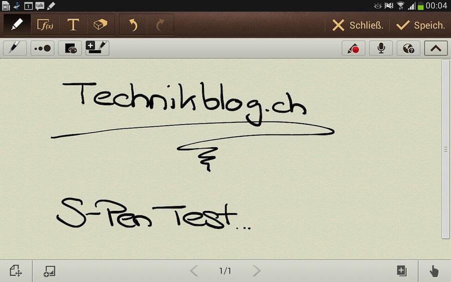 Galaxy Note 8.0 S-Pen Test