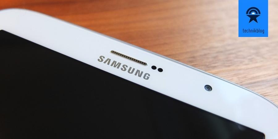 Detailaufnahme der Oberseite des Samsung Galaxy Note 8.0