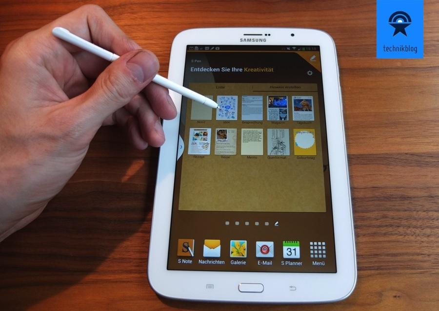 Samsung Galaxy Note 8.0 mit dem S-Pen