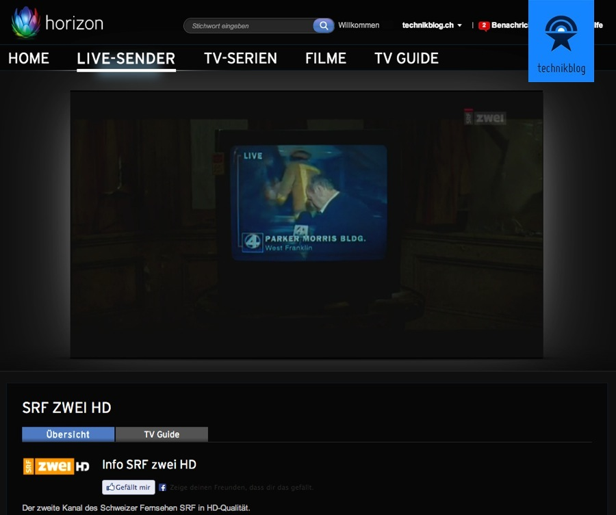 Horizon TV im Browser