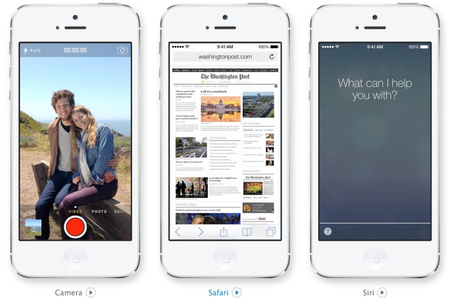 Neue Kamera App in iOS 7, schlichter Browser und Siri mit Männerstimme