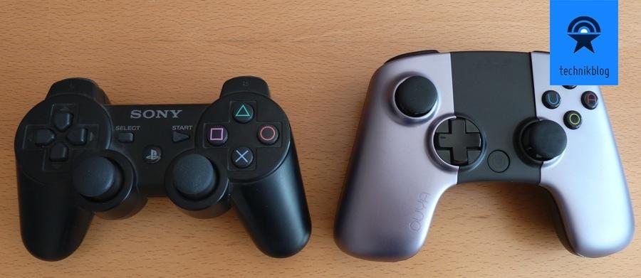 OUYA Controller und PS3 Controller