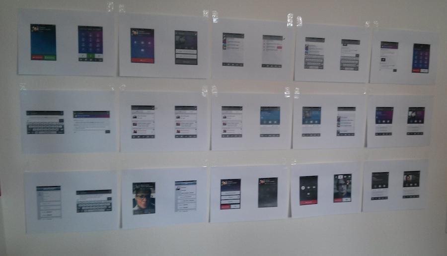 Tapeten in den Swisscom Labs