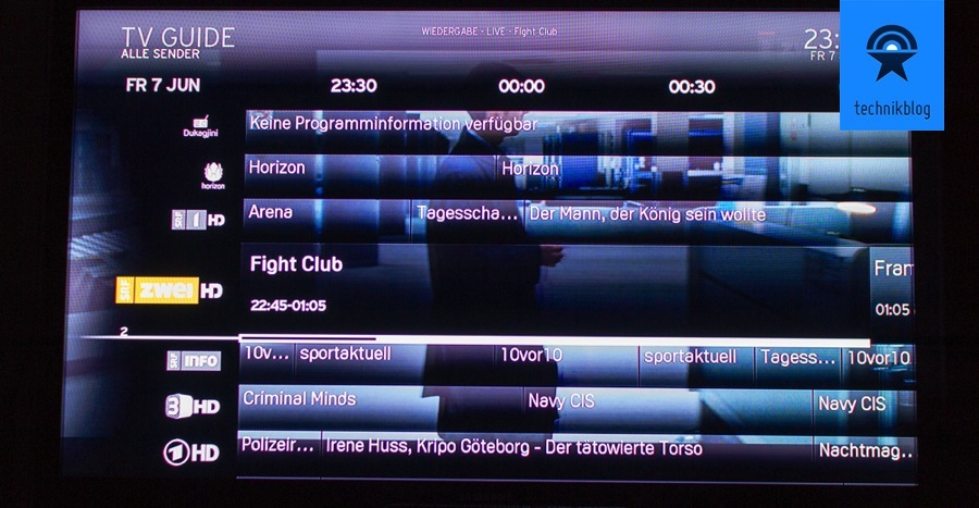 UPC Cablecom Horizon TV Guide
