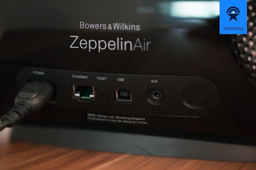 Anschlussmöglichkeiten an der Rückseite des Zeppelin Air