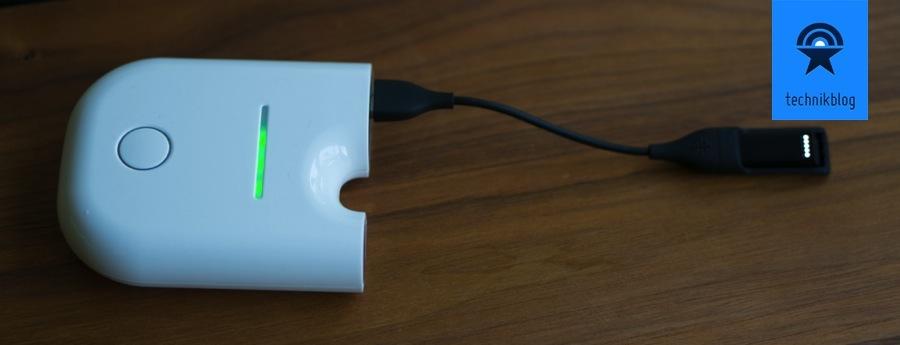 Dank Changers kann ich den Fitbit Flex mit grünem Strom betreiben