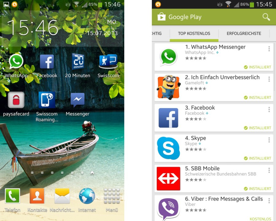 Galaxy S4 Screenshots