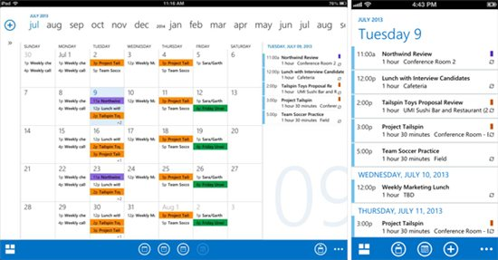 OWA - Kalender Ansicht