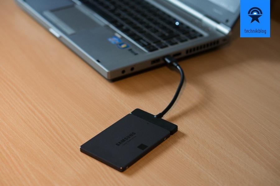 Samsung SSD 840 Evo mit USB3.0 Adapter für Datenmigration