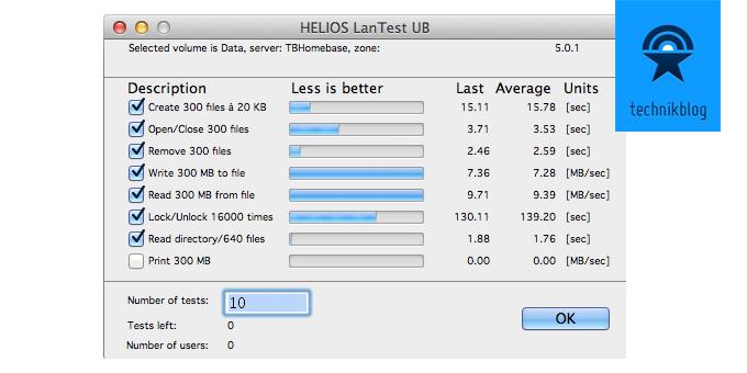 Speedtest 802.11ac auf Apple Time Capsule
