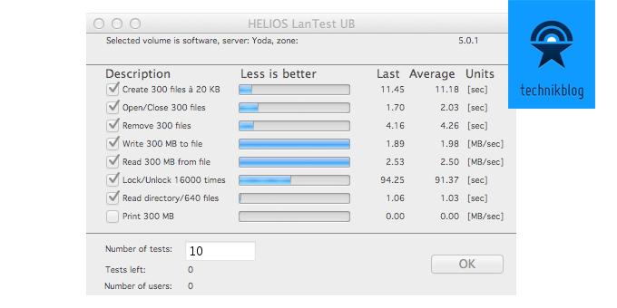 Speedtest 802.11n auf Synology