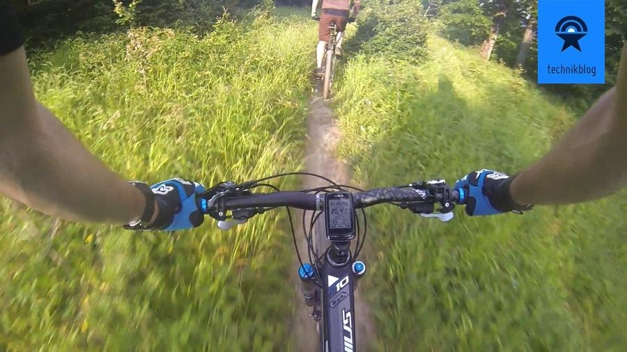 Suunto Ambit2 S beim Biken im Einsatz
