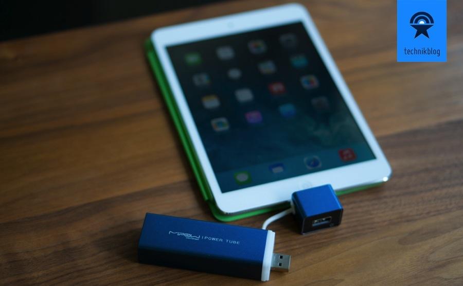 Testbericht MiPow Power Tube 4000 am iPad