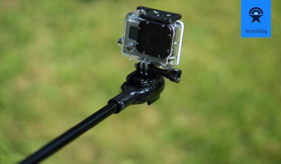 GoScope hat einen verbauten Kameraschuh für die GoPro Halterung
