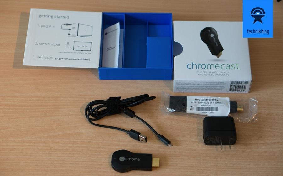 Google Chromecast Lieferumfang
