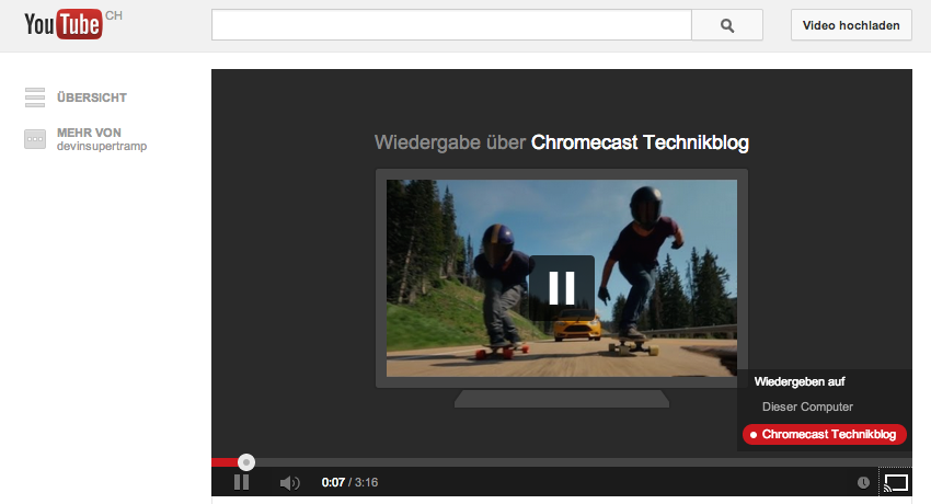 Google Chromecast Youtube Streaming