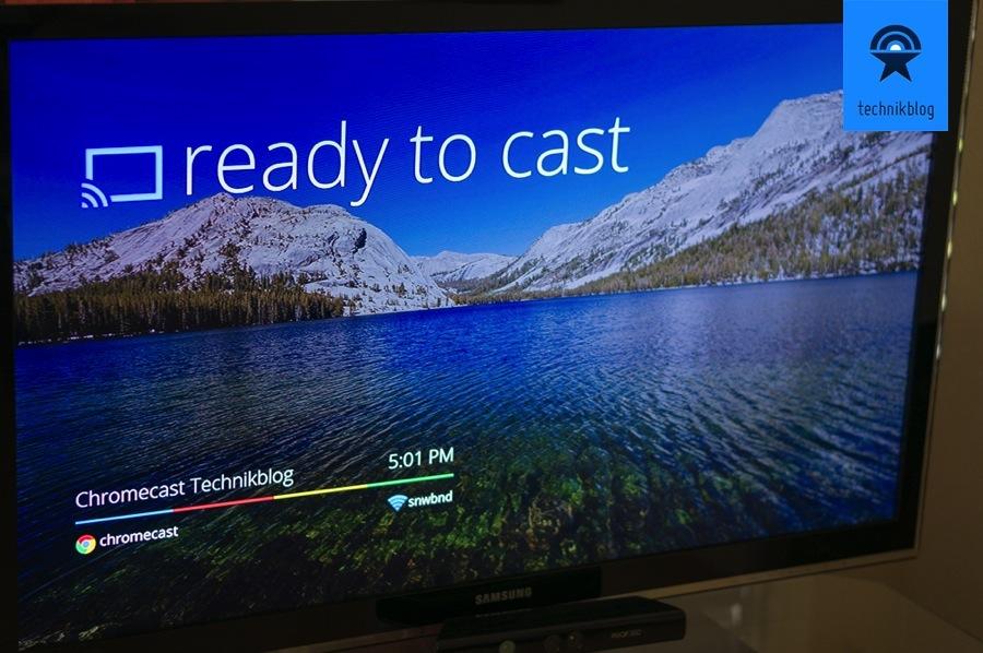 Google Chromecast - ready to cast - nach erfolgreicher Installation