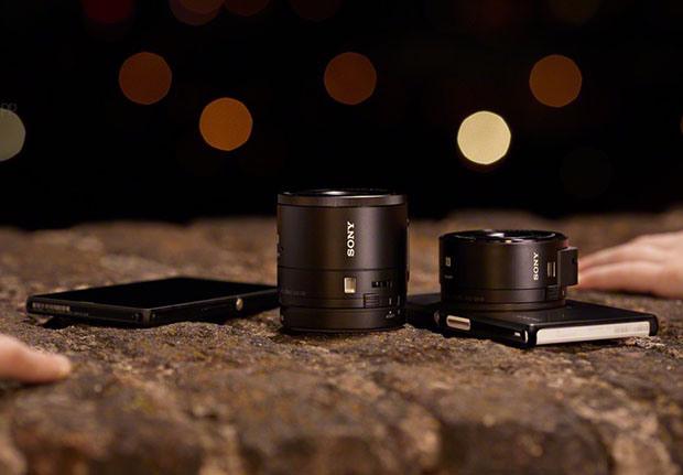 Sony DSC-QX10 und DSC-QX100 Aufsteck-Kameras