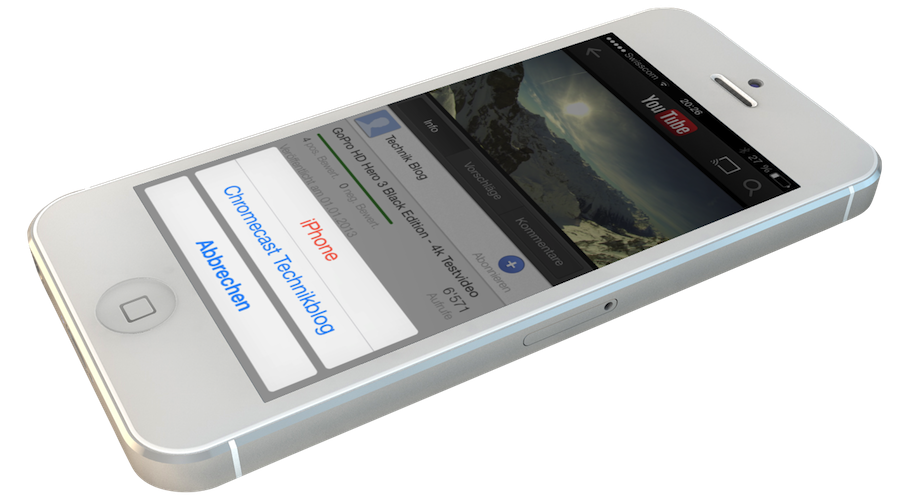 iOS Youtube und Google Chromecast auf dem iPhone 5 - breezi.com
