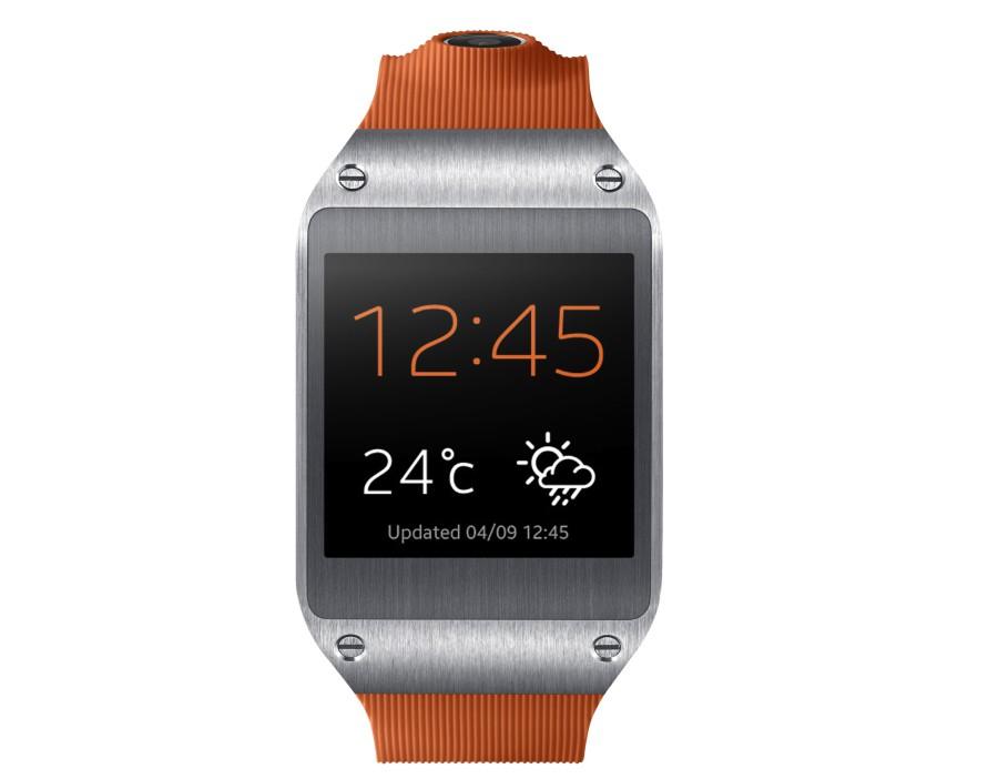 Die Samsung Smartwatch gibt es in diverse Farbausführungen, wie Wild Orange.