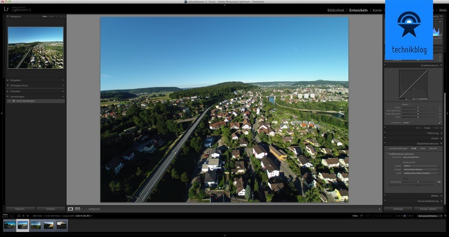 Adobe Lightroom 5.2 hat GoPro Objektivprofile mit an Board