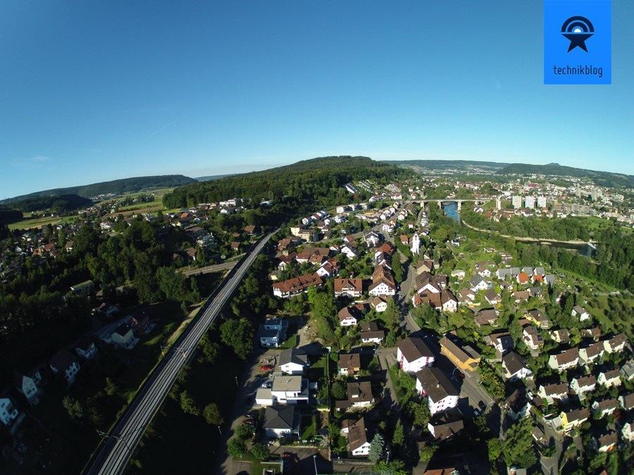 Luftaufnahme mit der GoPro ohne Profilkorrektur