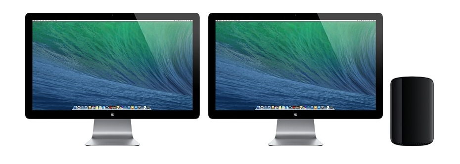 Mac Pro mit Displays