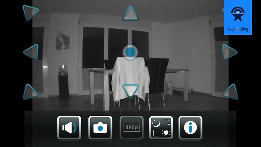 Screenshot MyDlink App bei Nacht