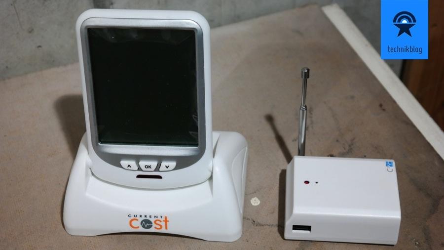 Envir Monitor und Leser vor der Installation am Stromzähler