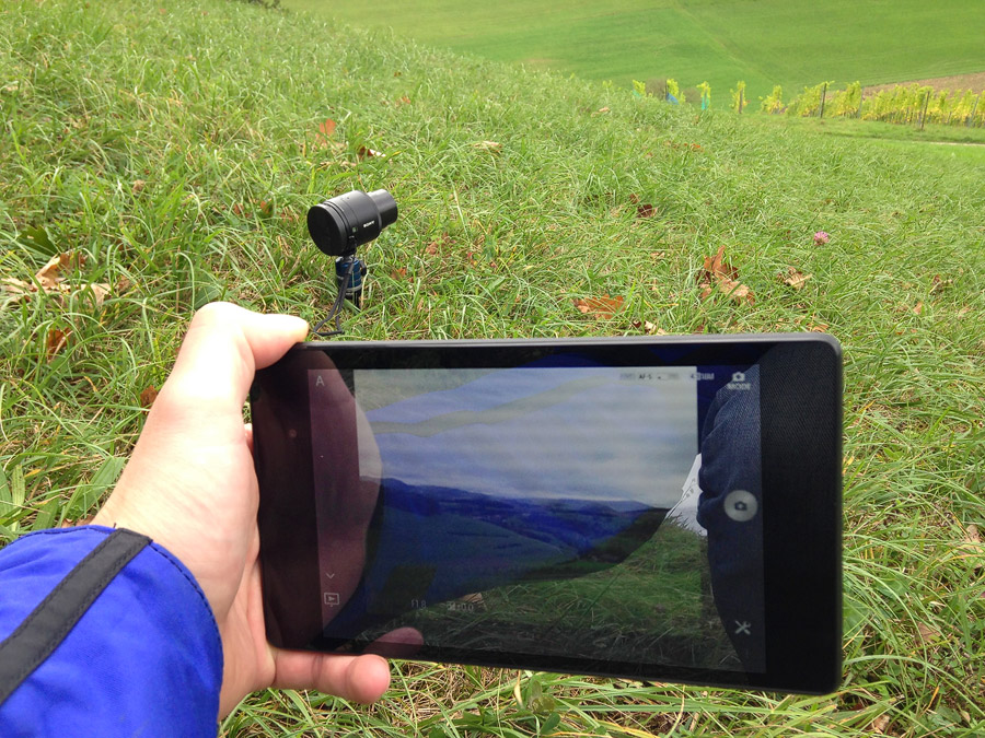 Sony QX100 Anwendung