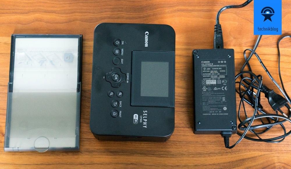 Canon Selphy CP900 - Lieferumfang ohne Papier und Druckfarbe