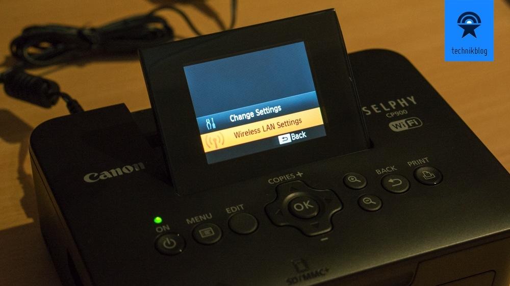 WLAN am Canon CP900 einrichten