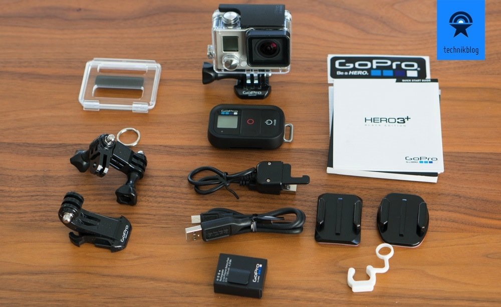 Lieferumfang der GoPro Hero 3+ Black Edition