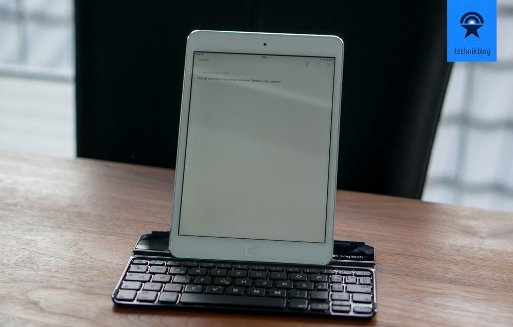 Ganz praktisch am Keyboard Cover: iPad lässt sich im Hochformat nutzen!