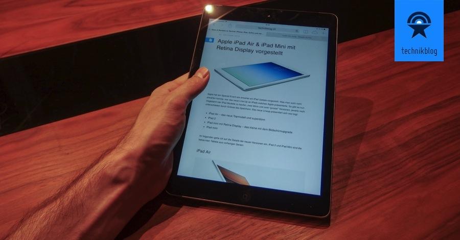 iPad Air - Finger am Rand wird als keine Eingabe gut erkannt