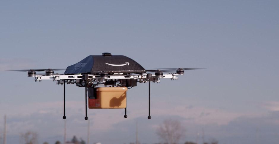 Amazon Prime Air Drohne im Einsatz