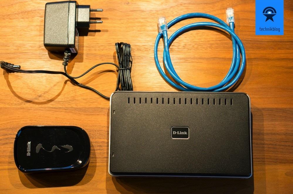 Die D-Link Printserver werden mit Netzteil und Netzwerkkabel geliefert, USB muss man selbst mitbringen