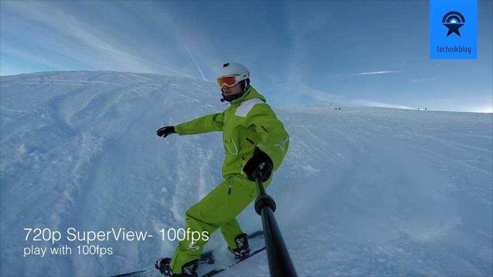 GoPro Hero3+ Bildausschnitt mit 720p SuperView Modus