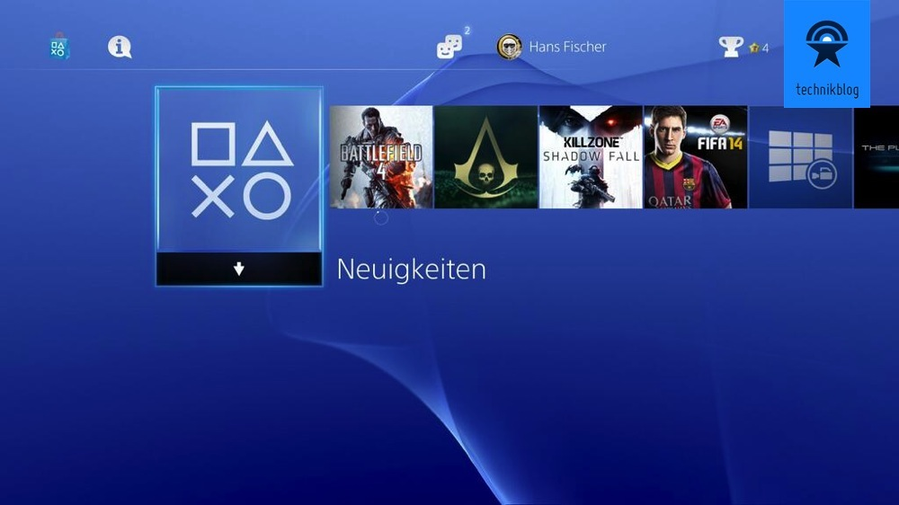 Playstation 4 Menü