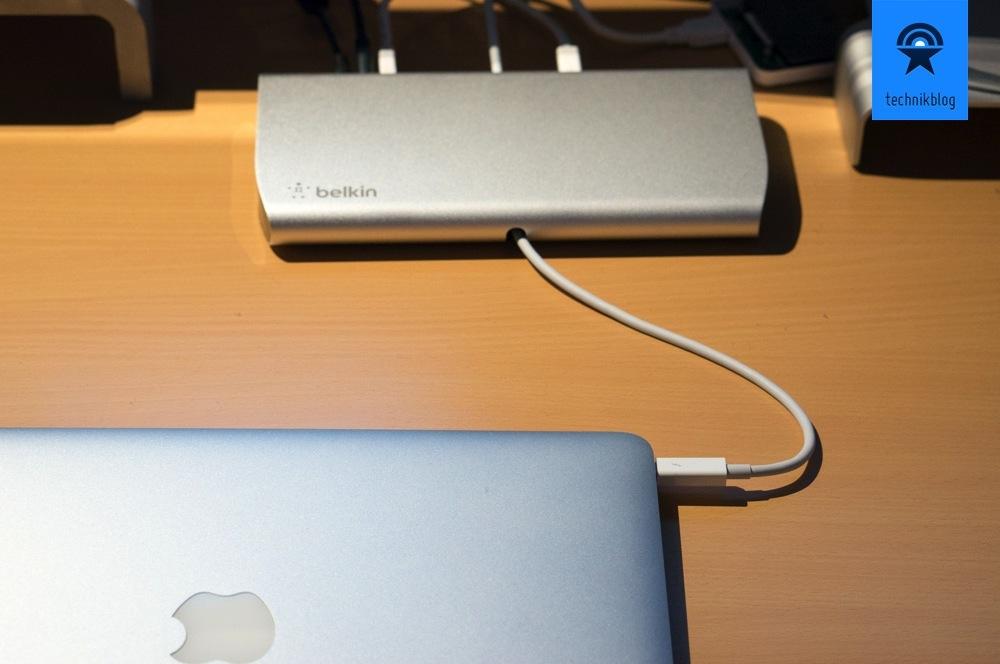 MacBook Air und Thunderbolt Dock ergänzen sich perfekt