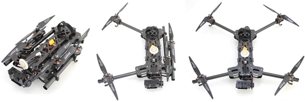 Black Snapper Quadcopter - Ausleger können eingeklappt werden für einfachen Transport