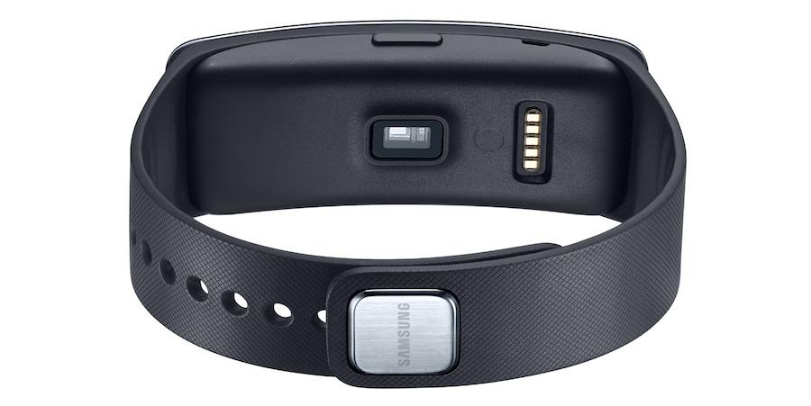 Samsung Gear Fit Verschluss und Pulsmesser