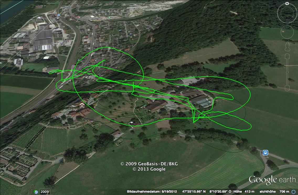 Flytrex GPS Daten in Google Earth