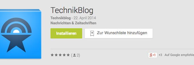 Technikblog Android App Titel