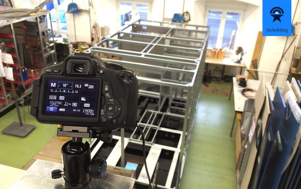 Timelapse Setup: Aufbau Kamera