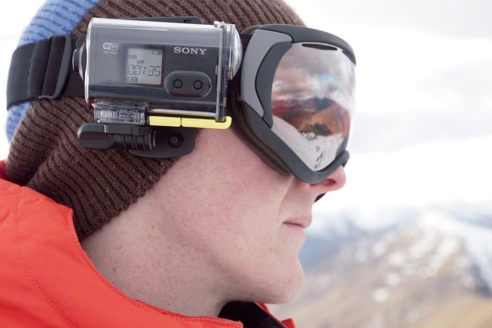 Sony HDR-AS2 Snowboarding