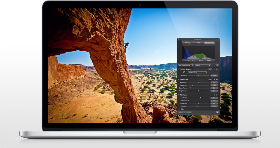 Apple Aperture wird eingestellt