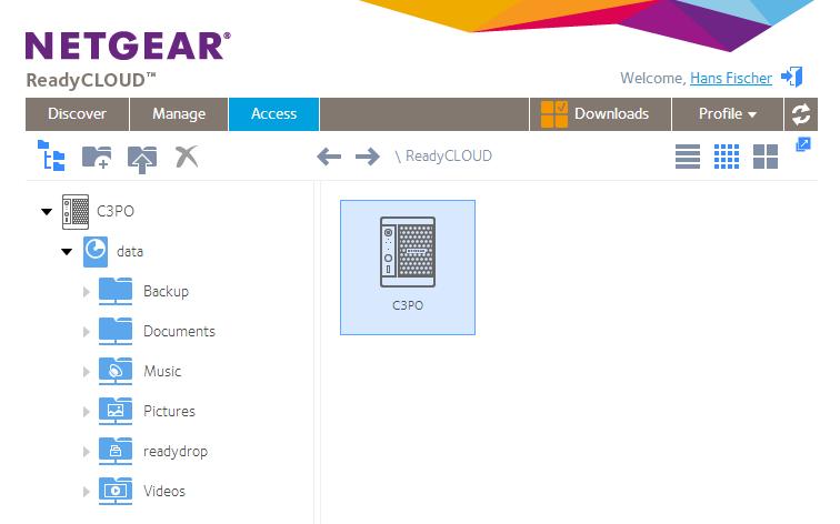 ReadyCloud Screenshot