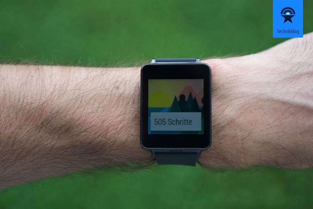 Schrittzähler in der LG G Watch