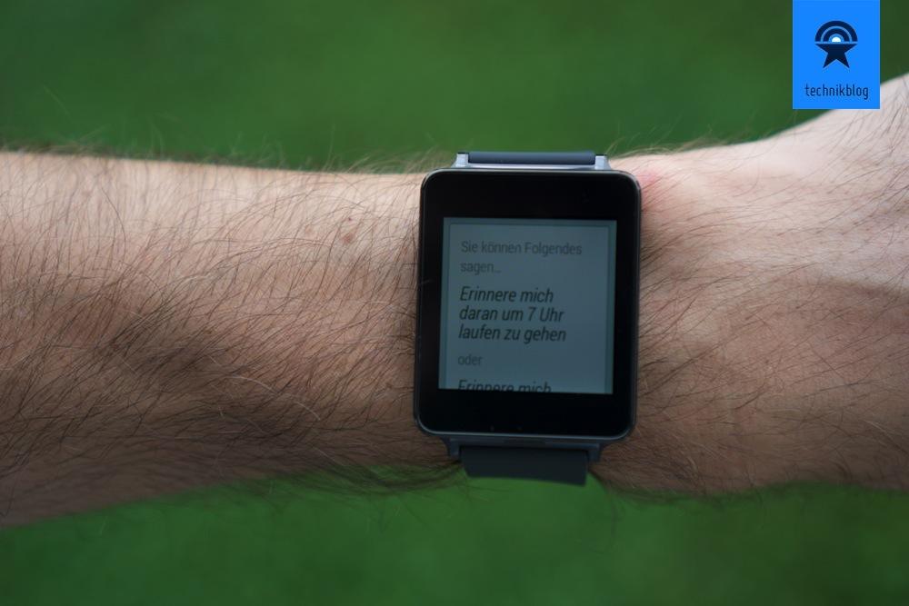 Android Wear bietet auch Hilfestellungen an.